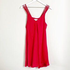 Amanda Uprichard Red Silk Multi Strap Slip Dress